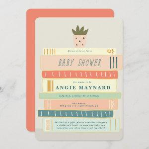 Mint and Pink Books For Baby Baby Shower