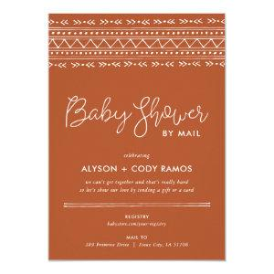 Modern Boho Baby Shower by Mail Invitation