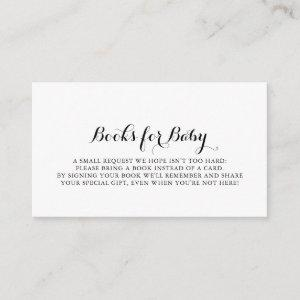 Modern Calligraphy Baby Shower Book Request Enclosure Card