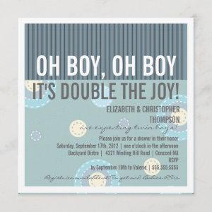 Modern Couples Twin Boy Baby Shower