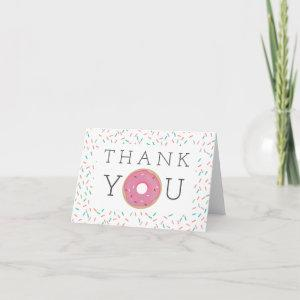 Modern Donut Thank You Cards