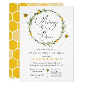 Mommy to Bee Baby Shower by Mail invitation