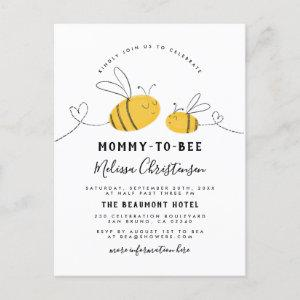 Mommy To Bee Baby Shower Invitation Postcard