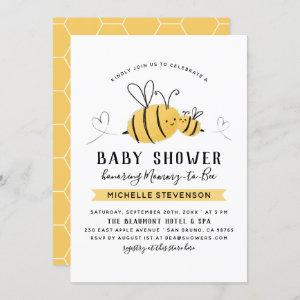 Mommy To Bee Gender Neutral Baby Shower Invitation