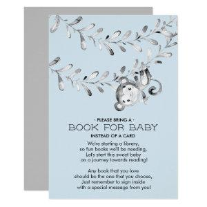 Monkey Baby Shower Book for Baby Card