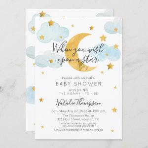 Moon & Stars theme Baby Shower Invitation