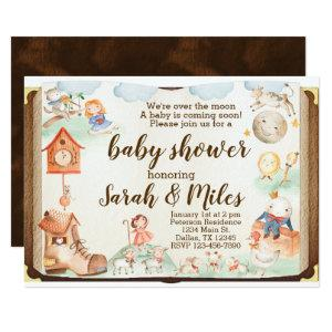 Mother Goose Baby Shower Invitation Invite