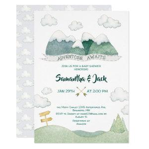 Mountain Adventures Baby Shower Invitation