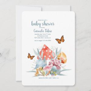 Mushrooms and Butterflies Baby Shower