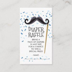 Mustachel Baby Shower Diaper Raffle Ticket Enclosure Card
