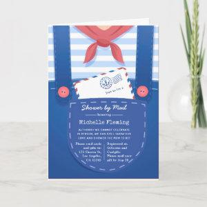 Nautical Baby Boy Shower by Mail Invitation