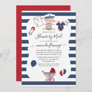 Nautical Boy Baby Shower by Mail Invitation