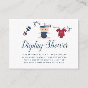 Nautical Boy Baby Shower Display Shower Enclosure Card