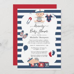 Nautical Boy Drive By Baby Shower