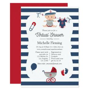 Nautical Boy Virtual Baby Shower Invitation