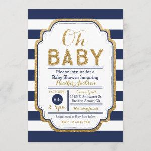 Navy And Gold Baby Shower , Baby boy