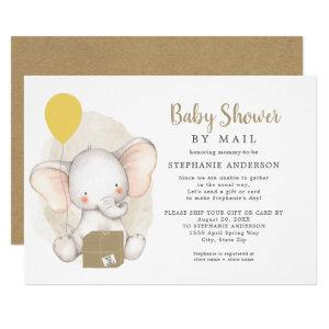 Neutral Gender Elephant Baby Shower by Mail Invitation