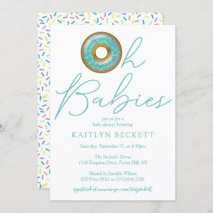 Oh Babies Donut Sprinkle Twin Boys Baby Shower