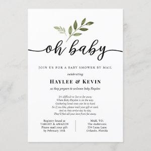 """Oh Baby"" Baby Shower By Mail Invitation"