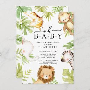 Oh Baby Jungle Baby Shower