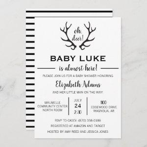 Oh Deer Baby Boy Shower Invitation