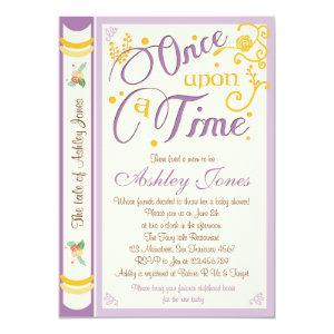 Once Upon A Time Baby Shower Invitation Fairy Tale