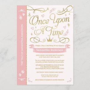 Once Upon A Time Baby Shower, Princess Baby Shower Invitation