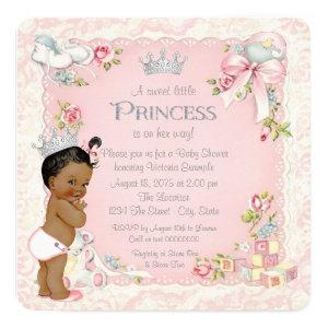 Once Upon a Time Ethnic Princess Baby Shower Invitation