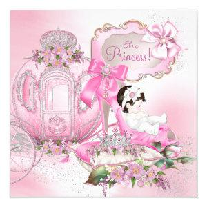 Once Upon a Time Princess Pink Baby Shower Invitation