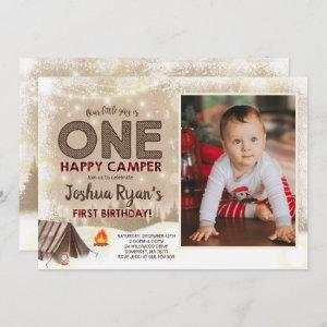 One Happy Camper Birthday Invitation Camping Party