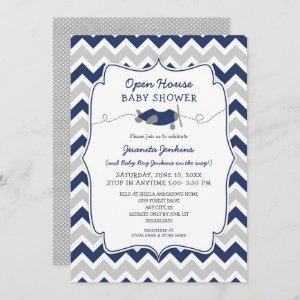 Open House Boy Baby Shower Invitation
