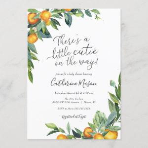 Orange Little Cutie Baby Shower Invitation