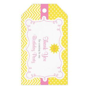 Our little Sunshine Birthday Gift Tag