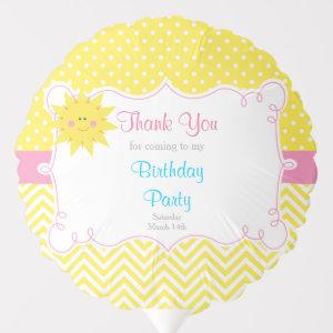 Our little Sunshine Blue and Yellow Birthday Party Balloon