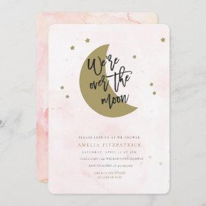 Over the Moon Baby Shower  Girl