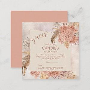 Pampas Grass Hydrangea Blooms   Candies in the Jar Enclosure Card