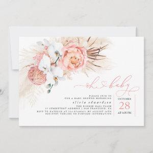 Pampas Grass Pink Oh Girl Baby Shower