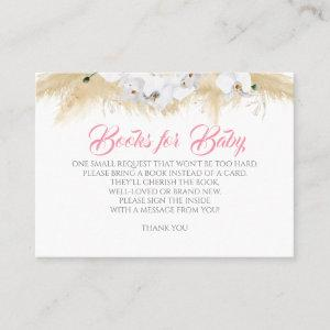 Pampas Grass White Orchids Pink Baby Books Request Business Card