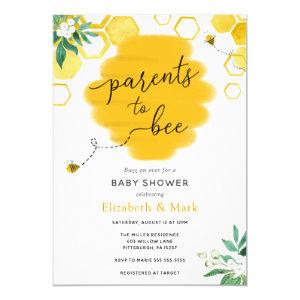 Parents to Bee Baby Shower Invitation