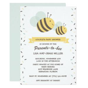 Parents to Bee Bumblebee Couple's Baby Shower Invitation