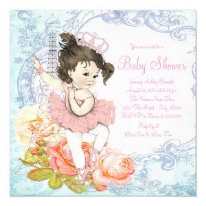 Paris Ballerina Baby Shower Invitation