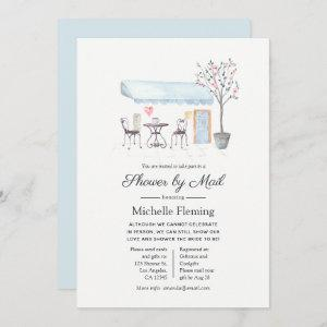 Paris Cafe Baby or Bridal Shower by Mail Invitation