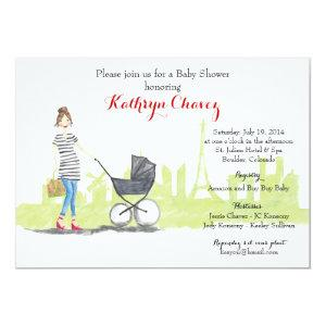 Parisian Mama: French-themed Baby Shower Invite