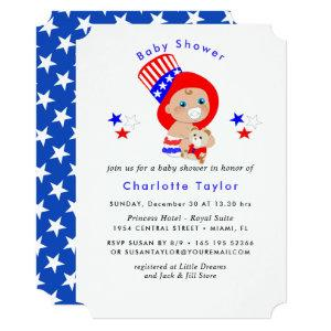 Patriotic Uncle Sam American Baby Shower Invitation