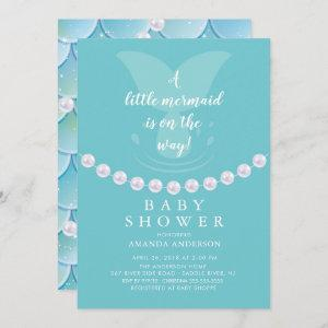 Pearls & Mermaid Baby Shower Invitation