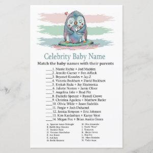Penguin Celebrity Baby Name Game