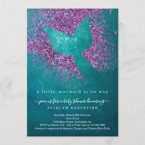 Personalized Mermaid Themed Baby Shower Invitation