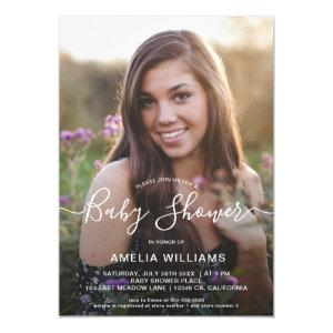 Personalized Photo Baby Shower Invitation