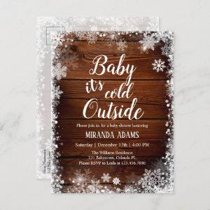 Photo Baby it's cold outside Winter  Baby Shower  Postcard