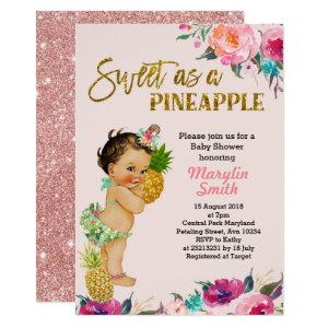 Pineapple Baby Shower Invitation Tropical